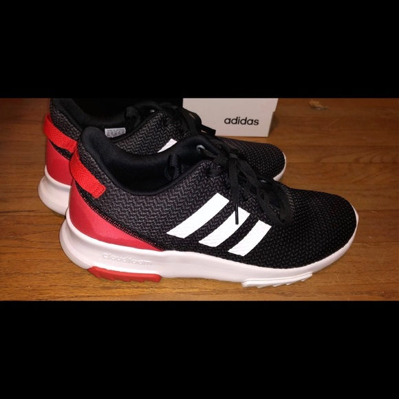 Adidas Cloudfoam Racer in Black/Red Sz:11.5